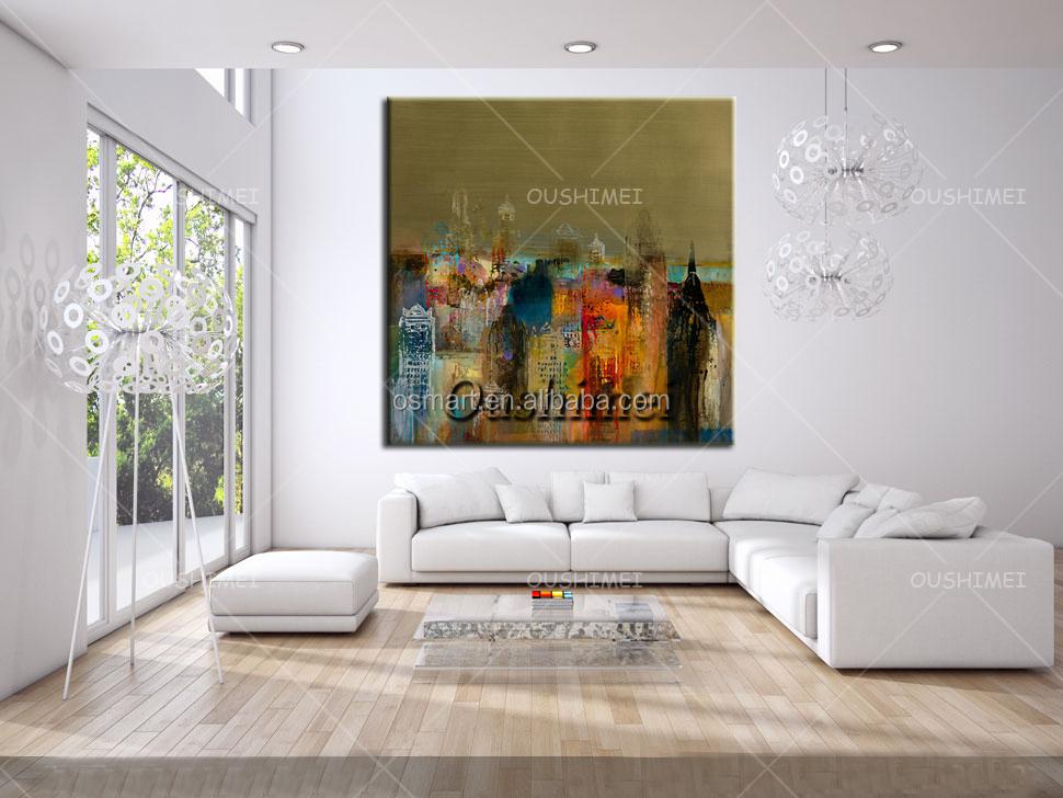 Hand geschilderd foto op canvas moderne olieverfschilderijen naar kamer heldere kleur moderne - Schilderij kamer jongen jaar ...