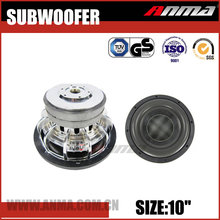 "10"" inch car subwoofer new design high power mini car audio speakers subwoofer"