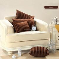 Dark brown drawing room decorative throw pillow
