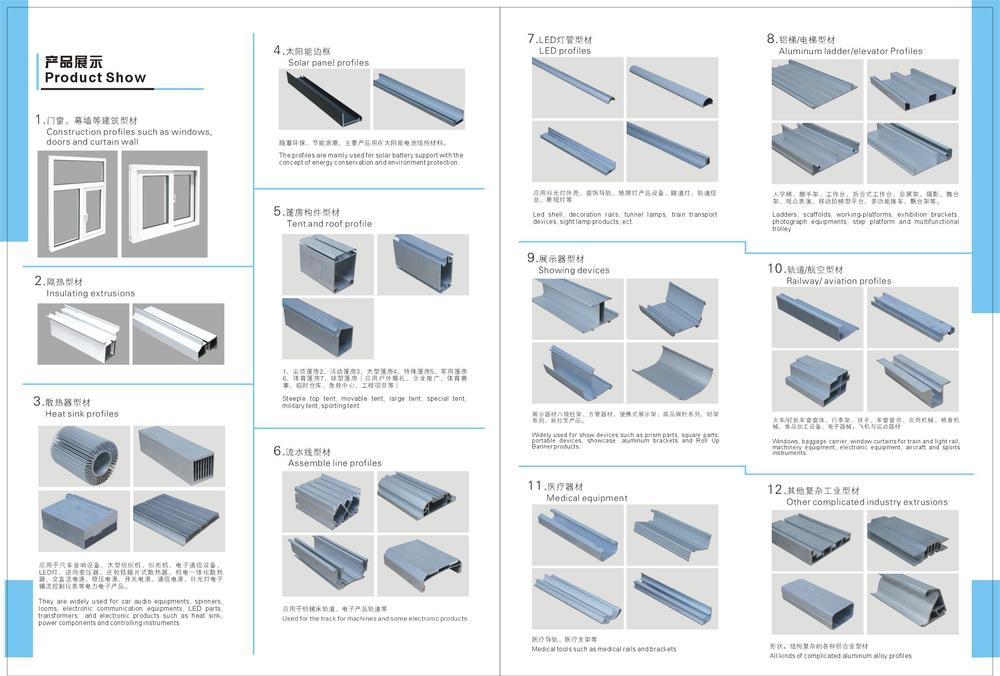 Odm drawing picture aluminium frame profiles advertising for Aluminium window frame manufacturers