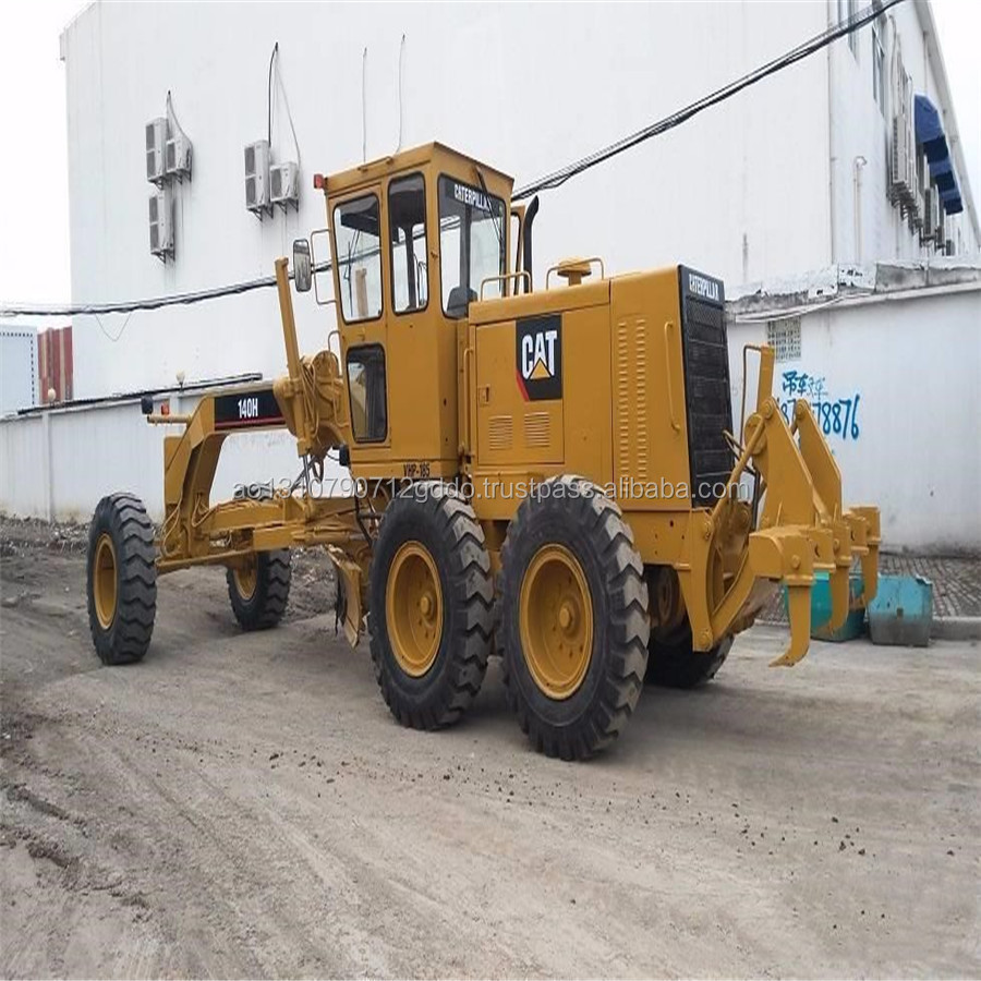Low Hours and Cheap Price CAT 140K Motor Grader Used Caterpillar 140H Grader for sale