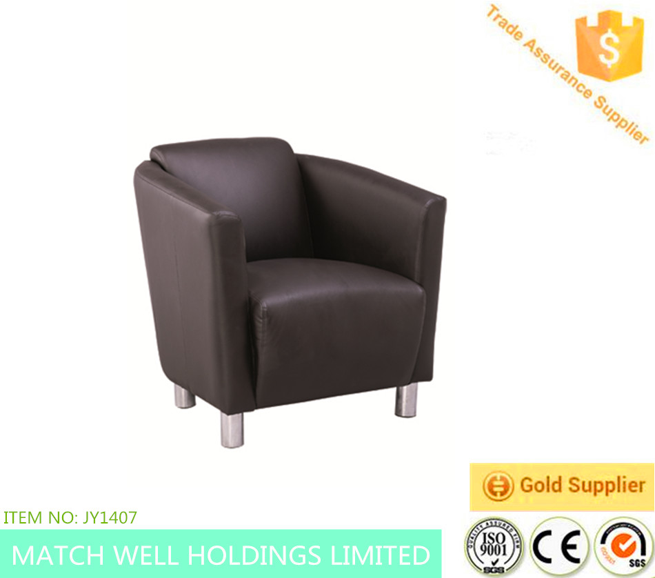 Hot sales European styly leather sofa for home Fabric Lounge Suite Soft Wooden Modern Club Tub Chair