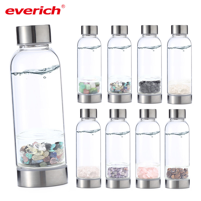 everich custom logo 550ml sport glass crystal water bottle crystal infused glass water bottle with metal lid bpa free buy crystal water bottle glass water bottle crystal infused glass water bottle product on alibaba com