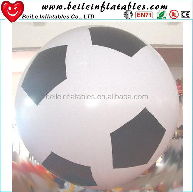 Customize Giant Black and White Color <strong>Inflatable</strong> Football Helium Balloon And Cheap Soccer Balloon <strong>Inflatables</strong> For Advertising