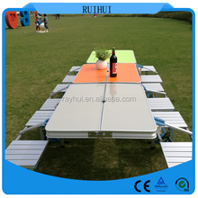 folding table portable indoor outdoor picnic party dining camp tables with 4 chairs