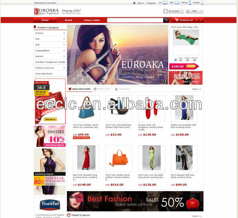 Image gallery online shopping china english for Website design for online shopping