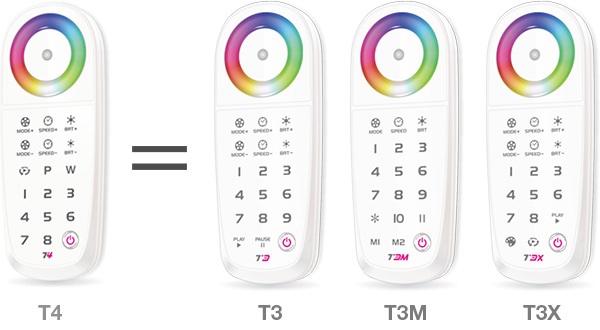 T4 2.4G LED Wireless synchronization controller
