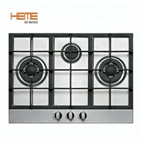 Kichen appliances 0.6mm stainless steel 3 burner built in gas hob PG7032S-CCI