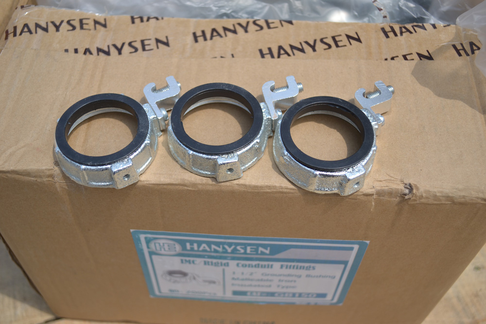 Quot malleable iron insulated grounding conduit bushing