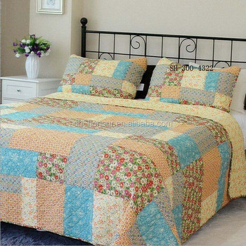Copripiumino Patchwork.Cotton Patchwork Quilts Duvet Cover Set Bedding Set 100 Polyester