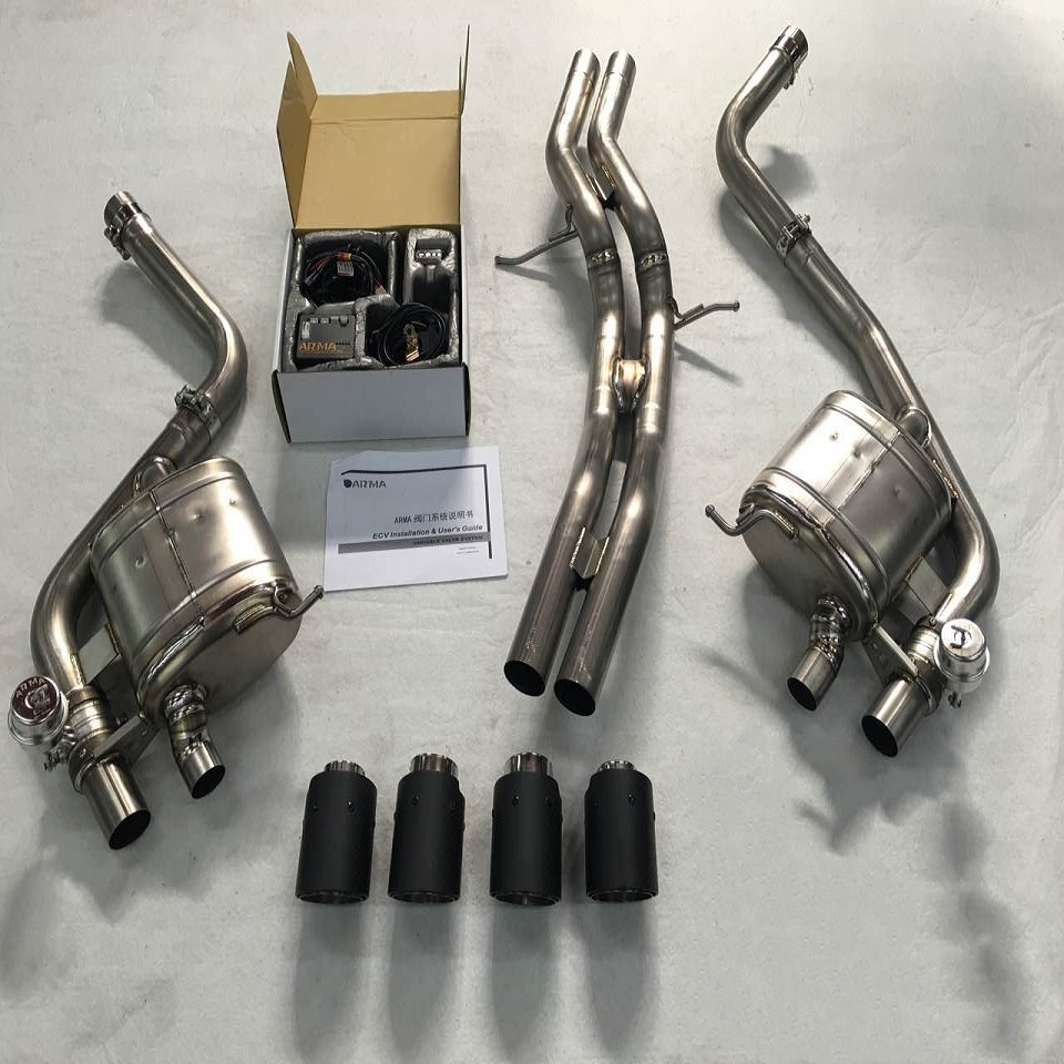Titanium Valve Control Car Exhaust Muffler Pipe For Macan S - Buy Titanium  Exhaust Muffler Pipe For Macan S,Valve Control Titanium Car Exhaust