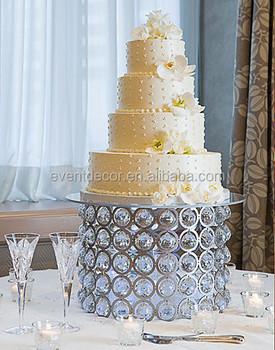 5 Tier Acrylic Crystal Wedding Cake Stand Wholesale