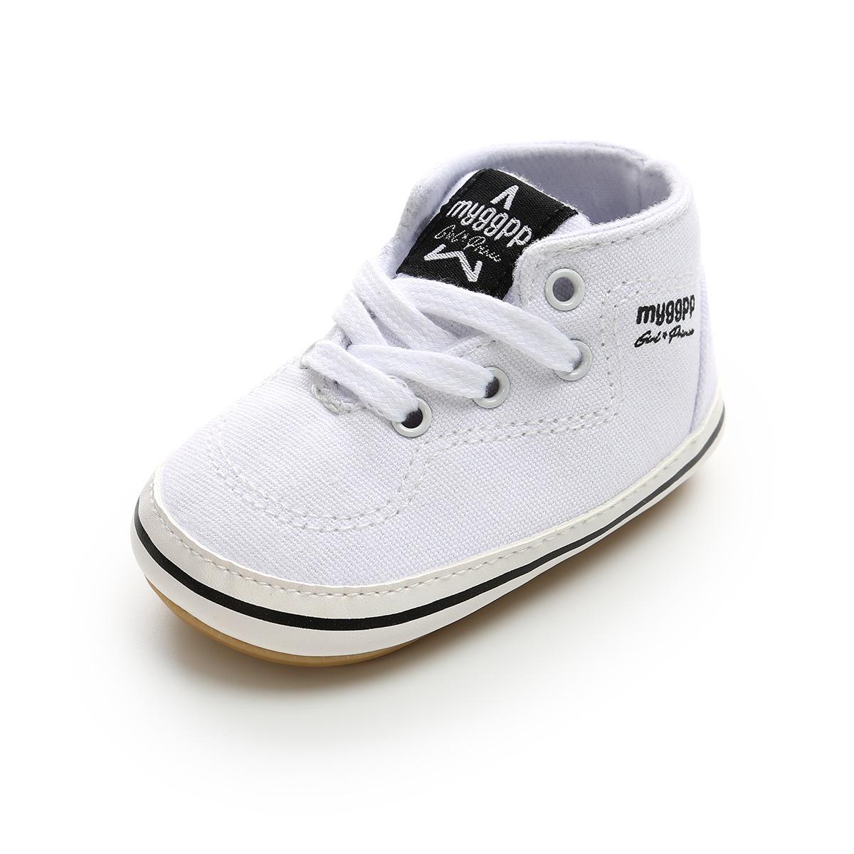 4b406108 Compre Blanco Zapatos Infantiles 2018 Lienzo Niños Niñas Primeros ...