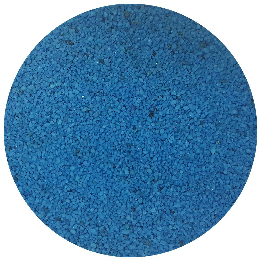Taygum Eco-Friendly Decorative Color Sand, 2.2lb, for Crafts, Vase Fillers, Sand Art, Outdoor Decorations, Sand Box (Blue)
