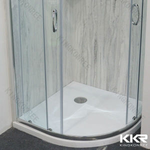 Round bathroom shower tray, polymarble shower base
