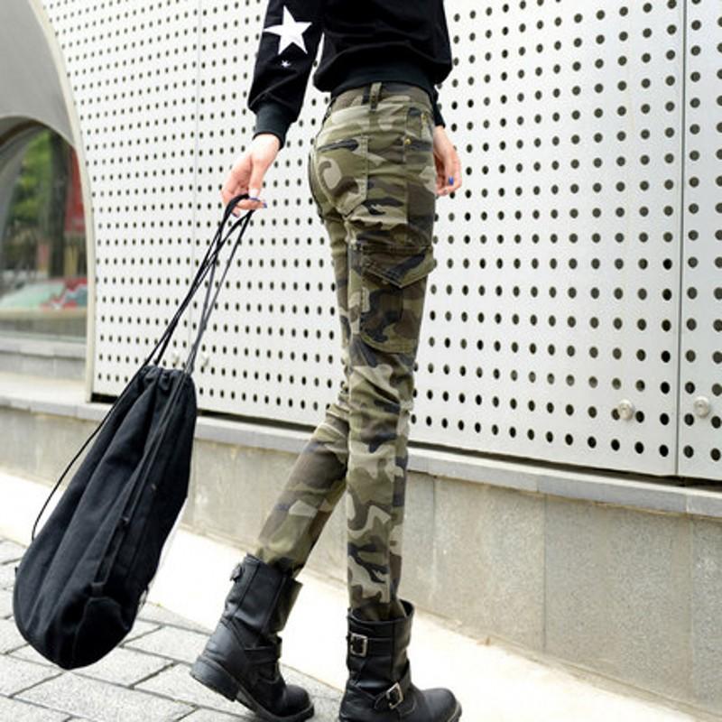 Popular Camo Skinny Cargo Pants for Women-Buy Cheap Camo