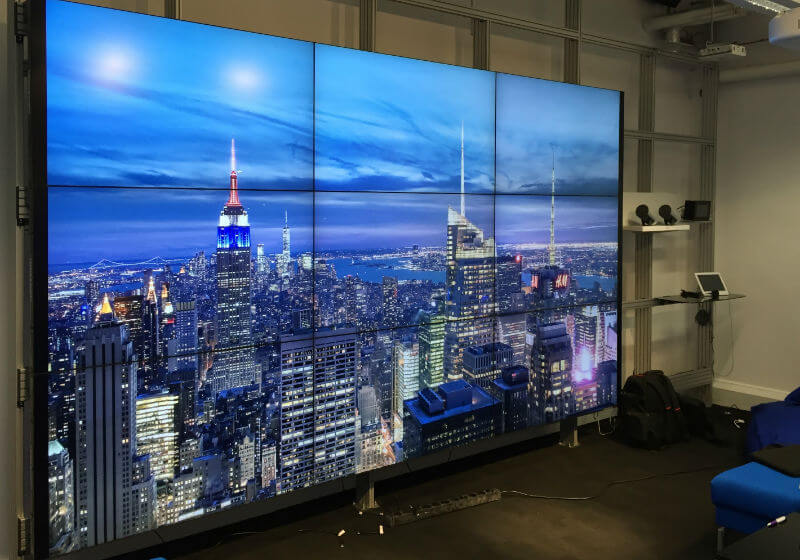 Ultra sottile parete video lunetta lcd 3x3 4x4 2x3 video wall video wall 55 con staffa pollici per interni mostra touch opzionale