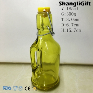 185ml Small Glass Bottles With Corks Olive Oil Glass Bottle