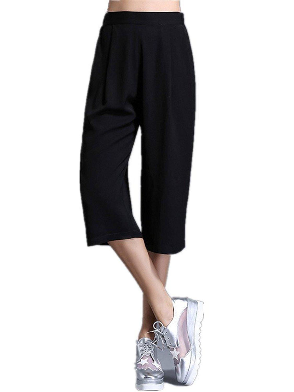 Etecredpow Womens High Waist Wide Leg Yoga Sports Exercise Stripe Pants Trousers