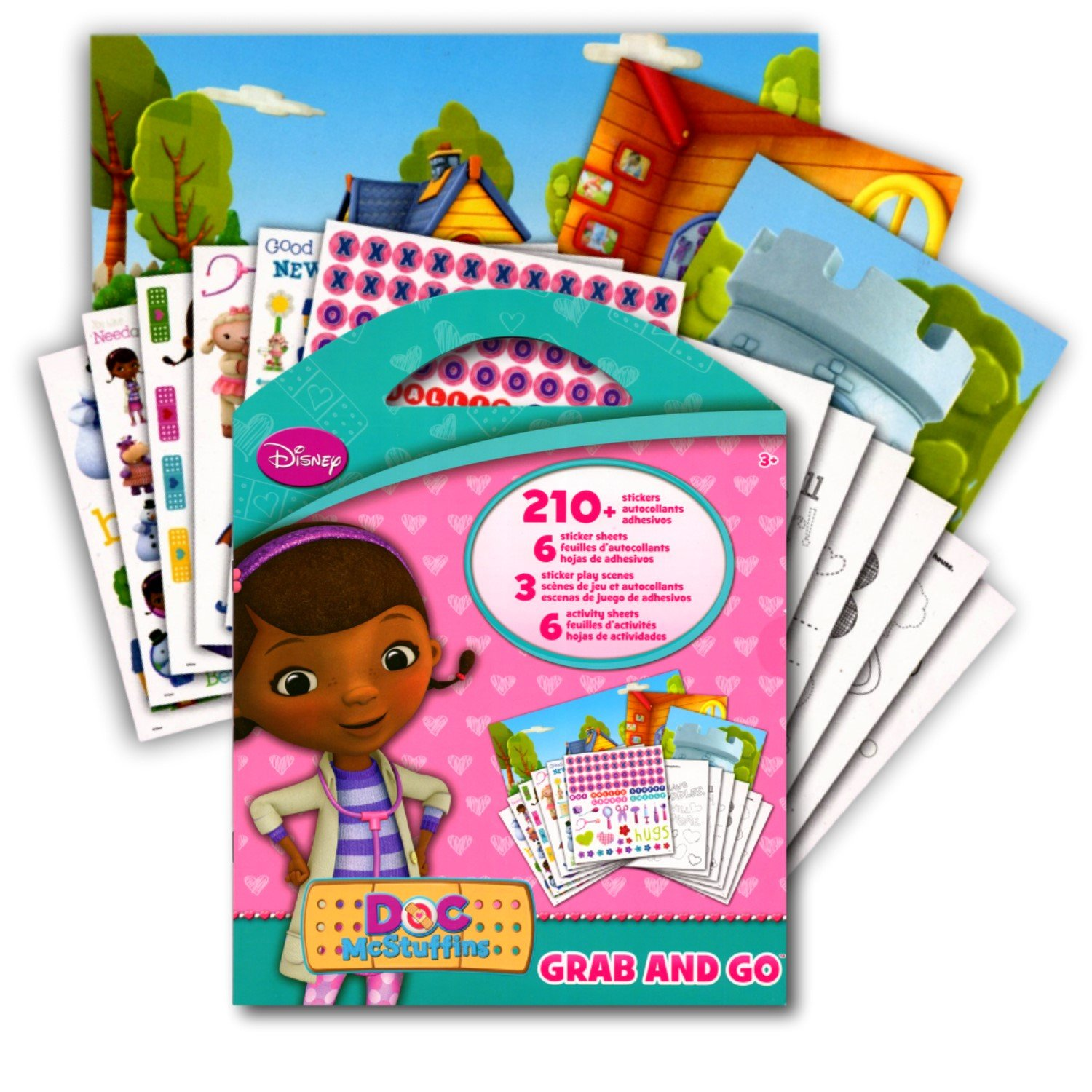 Doc McStuffins Stickers Activity Coloring Book ( 6 Large Sticker Sheets, 3 Sticker Play Scenes, 6 Coloring Activity Sheets)