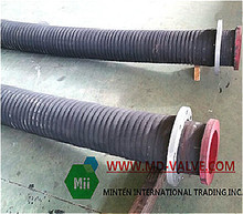 ductile rubber lined pipe cast iron surface rubber lining material very durable & with good price
