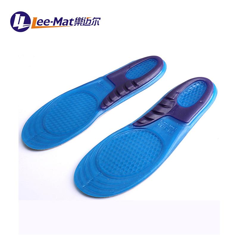 Amazon caldo-vendita di trasporto di taglio assorbimento degli urti traspirante gel di silicone solette per le scarpe