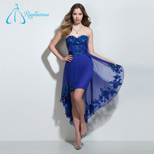 Lace Appliques Sashes Sheath Chiffon Cheap Short Strapless Prom Dresses