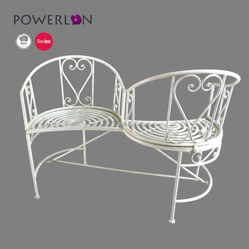 Astonishing Romantic Heart Scrollwork Unique Design Vintage Love Seat Bench Buy Wrought Iron Garden Bench Garden Love Bench Foldable Bench Seat Product On Pdpeps Interior Chair Design Pdpepsorg
