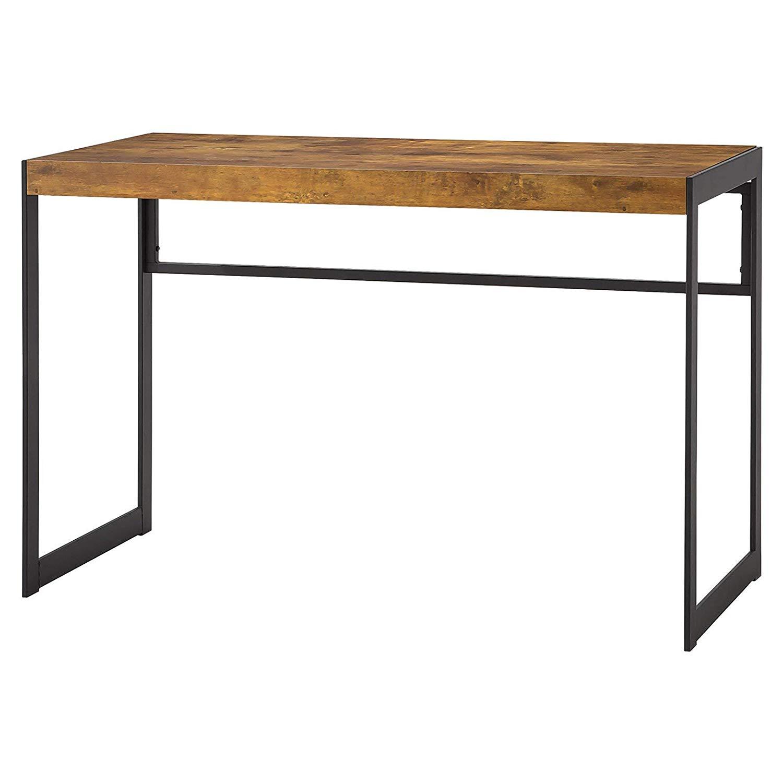 Writing Desk, Antique Nutmeg/Gunmetal Finish, Made from MDF, Paper, Metal, Veneer, Office Furniture, Home, Plenty Top Surface, Bundle Our Expert Guide Tips Home Arrangement