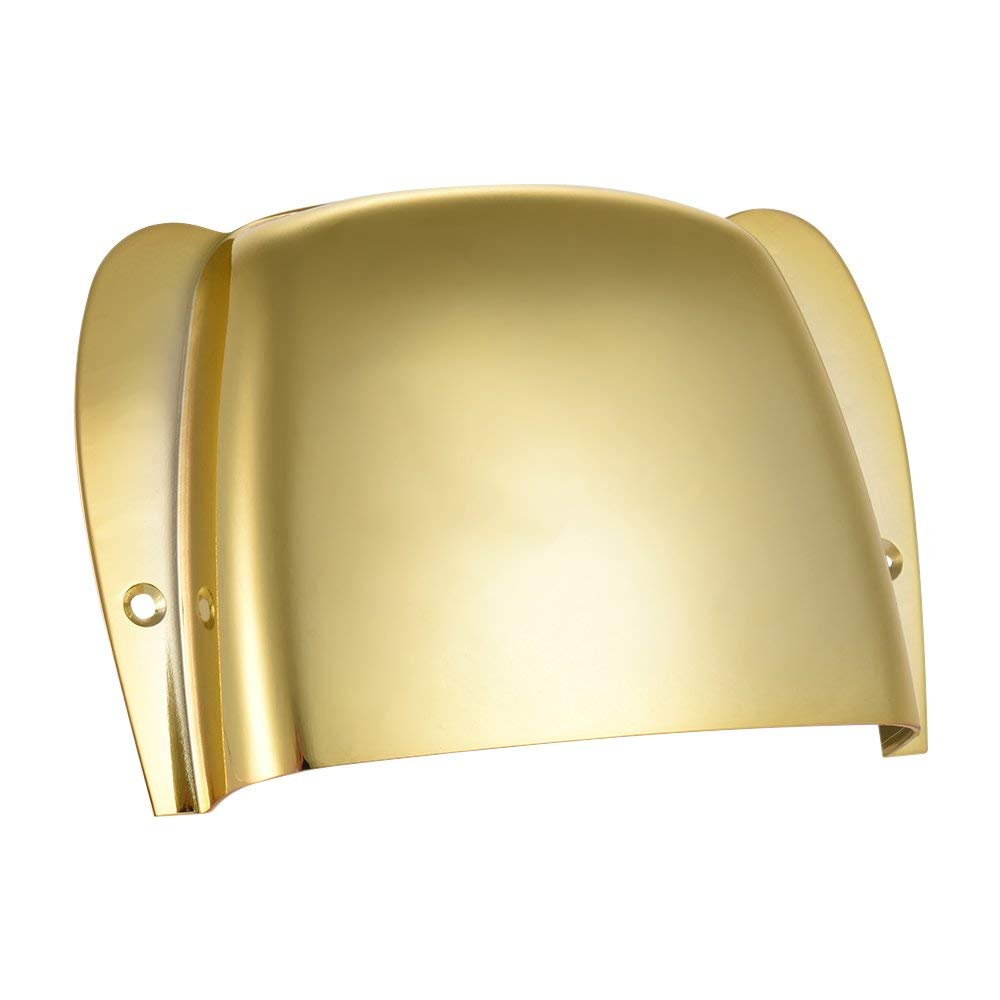 ammoon Short Steel Bridge Cover Protector for Jazz Bass Electric Bass Guitar Part Replacement (Gold)