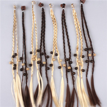 Kids braided hair extensions kids fake hair band hair ornaments kids braided hair extensions kids fake hair band hair ornaments decorated with beads pmusecretfo Images
