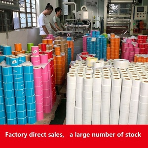 Customized coated self adhesive material self adhesive thermal sticker labels paper jumbo roll