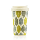 Wholesale14oz reusable bamboo fiber coffee cups dishwasher safe
