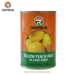 High quality fresh canned yellow peach 425g