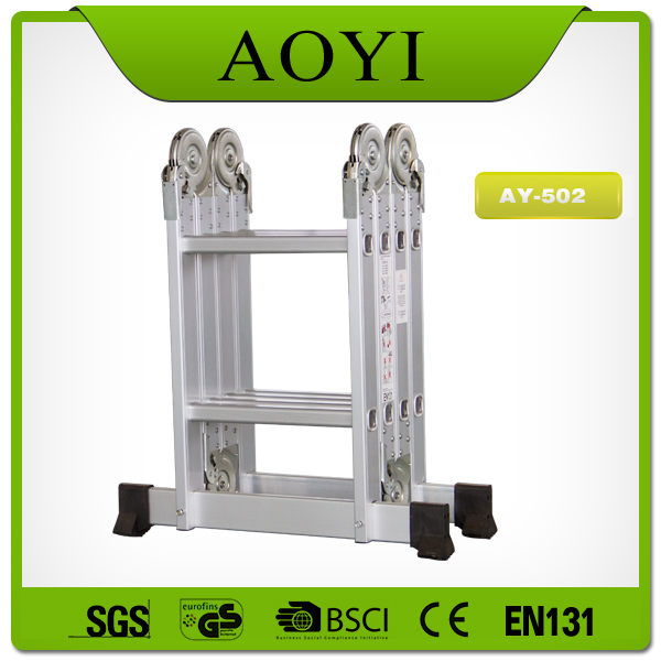 Easy carry to fold firberglass ladder made in china AY-502