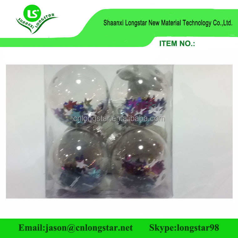 Delicate printable clear glass or plastic christmas balls ornaments