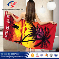 Factory supply custom towels beach for microfiber