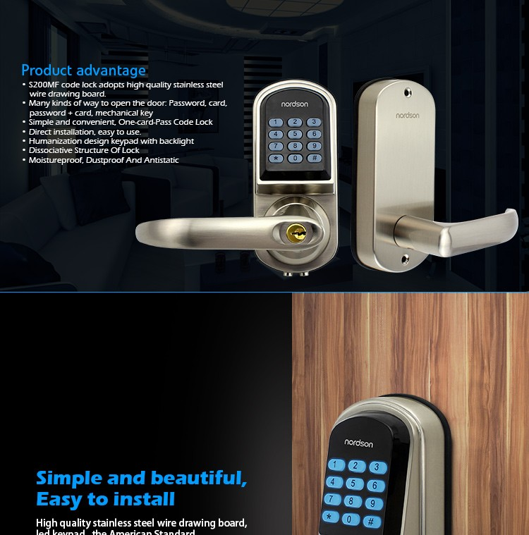 Electric With Timer Double Cabinet Key Unlock Digital Door Lock