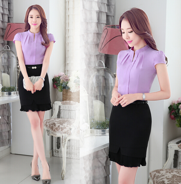 900c35bb2 New 2015 Spring Summer blouse Women Business Suits Formal Office Suits Work  Wear Dress Office Uniform