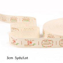 5 ярдов, многослойная хлопковая лента ручной работы с принтом, украшение для свадебной вечеринки, подарочная упаковка, сделай сам, кружевная...(Китай)