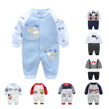 Wholesale New Born Baby Clothes Long Sleeve Christmas Outfit Baby Winter Cute Romper