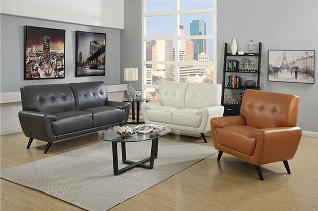 Amarillo de cuero seccional sof balc n barato moderno for Muebles balcon baratos
