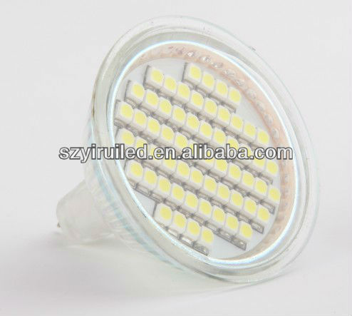 wei shi 4w mr16 led bulb 60pcs 3528 smd glass or aluminum CE,ROHS approval led spotlight with factory promotion price