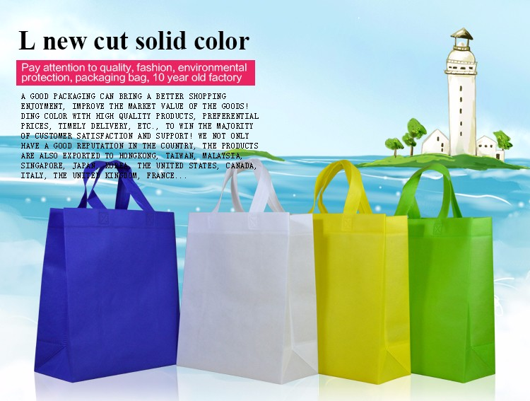 Factory Direct Promotional Non Woven D Cut Bag Shopper Bag