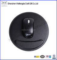 Fashion round leather creative mouse pad for office