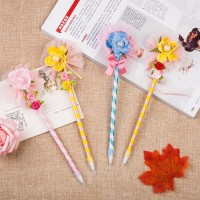Novelty hot sell flower shape ballpoint promotional plastic pen,promotional pen with crystal
