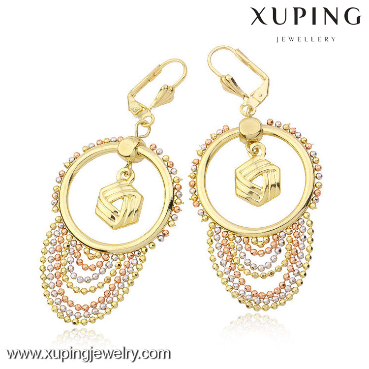 21625 High quality multicolor make crystal drop earrings wholesale