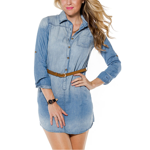 Stylish casual wear waisted women daily dress
