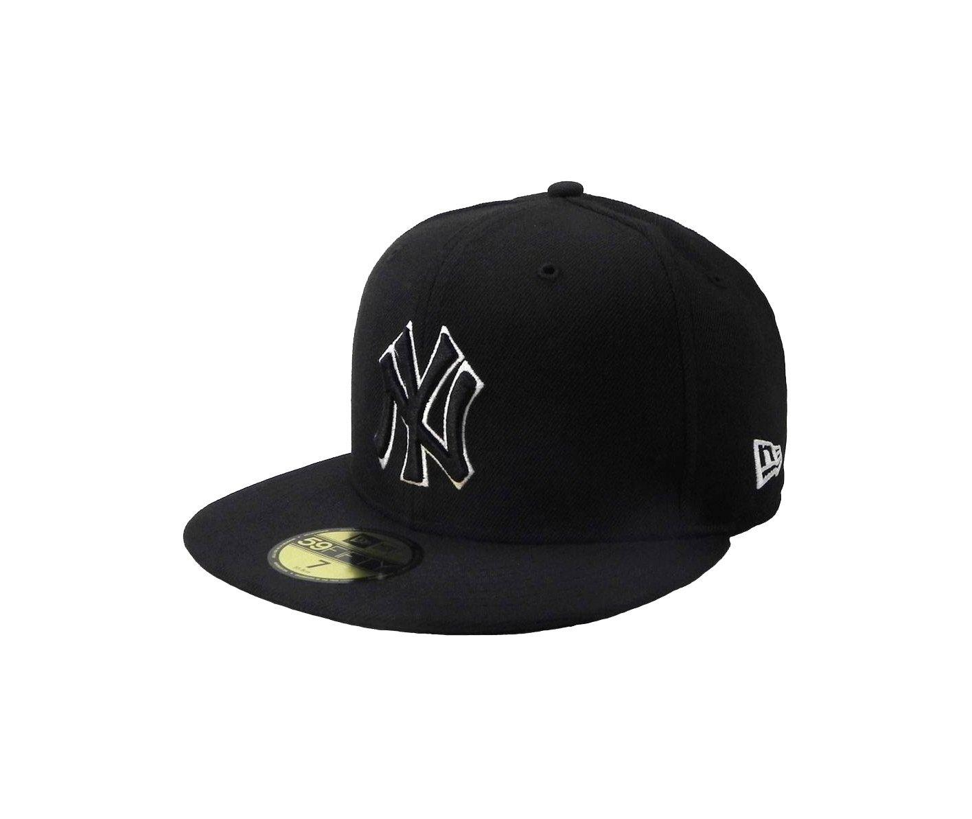 863956e927587 Get Quotations · New Era MLB cap New York Yankees men s headwear  black white fitted hat (8