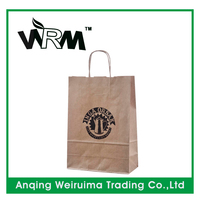 Kraft paper bag wholesale for shopping handbag